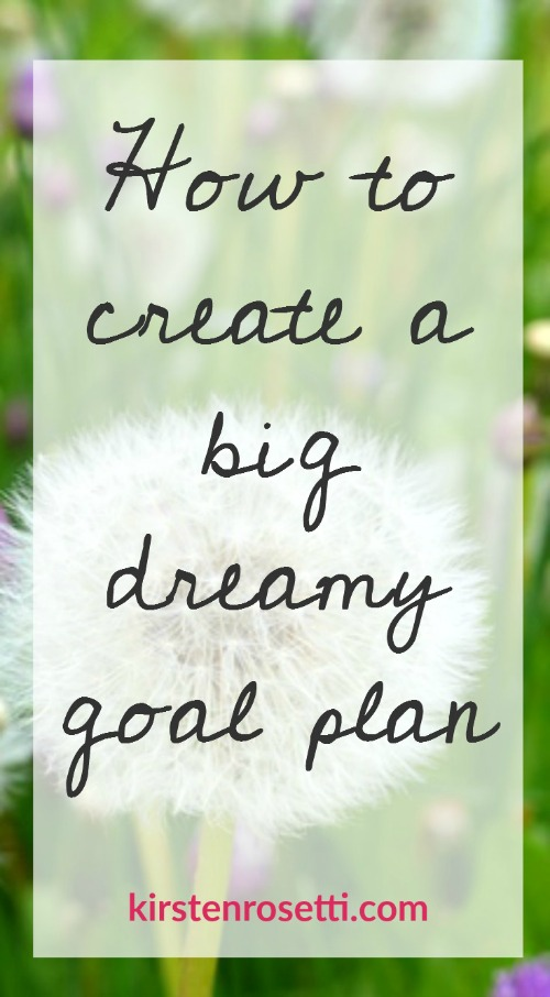 Have you got a big dreamy goal that you'd love to turn into a reality? Knowing what you want is an awesome first step, but don't forget to create a plan to maximize your chances of success. Stop by the blog to learn how to make a Big Dreamy Goal Plan and be sure to grab your free printable workbook while you're at it.