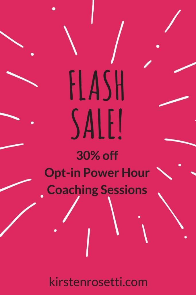 Flash sale on Opt-in Power Hour