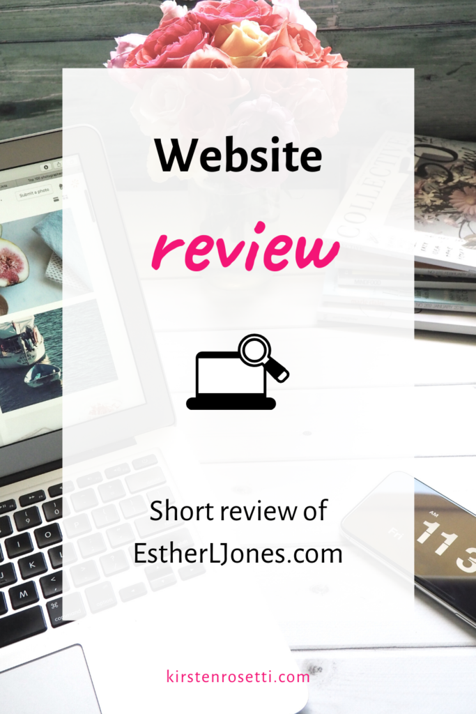 Website review for EstherLJones.com