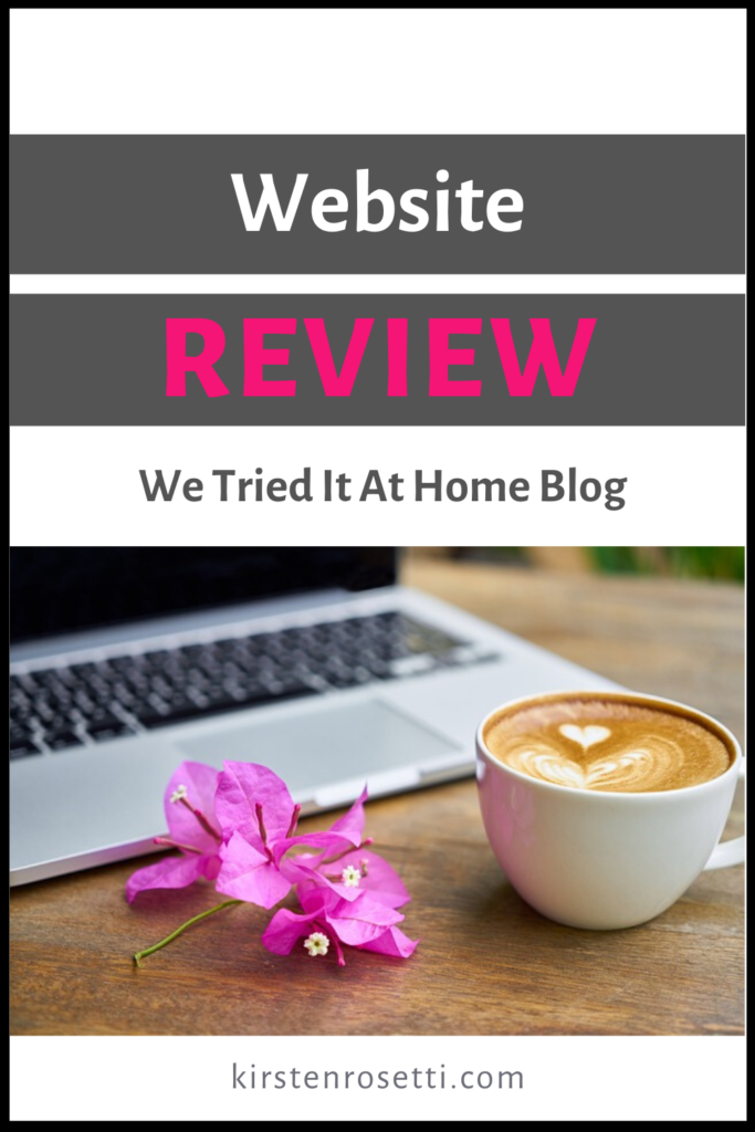 Pin Website review of we tried it at home blog