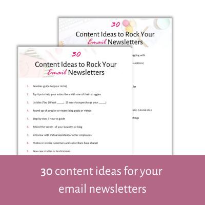 30 content ideas mockup